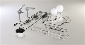 智慧路灯防水连接器不防水连接器LED显示屏灯头探头扬声器适用