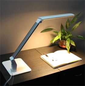 LED Desk Lamp with USB 5 Levels Dimmable 5 Color Mode Table Light for Working Studying
