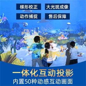 3D儿童乐园AR感应互动投影一体化墙面淘气堡砸球游戏