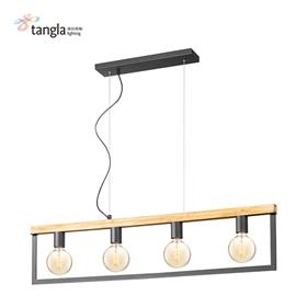 4L木框吊灯