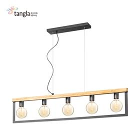 5L木框吊灯