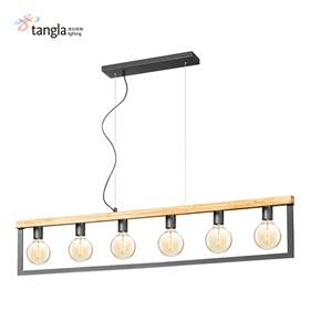 6L木框吊灯