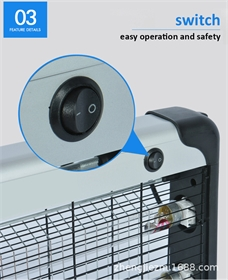 紫外线悬挂UV壁灯挂壁式双管格栅箱式大型消毒杀菌灯-FCMT45601