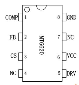 MT6620 原边反馈单级有源 PFC LED 恒流驱动芯片