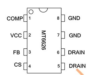 MT6626 隔离式原边反馈单级有源 PFC LED 恒流驱动芯片
