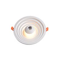 新款LED圆形面板灯牛眼灯筒灯射灯COB双色RGB七彩慢反射立体压铸铝三段开关厂家直销面板灯