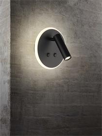 2000卧室双发光LED床头灯 带双开关艺术客厅走廊过道灯具
