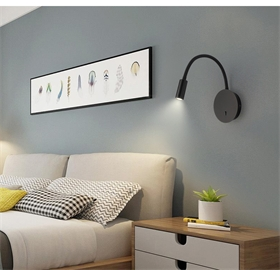 1910北欧弯管可调LED壁灯 带开关客厅过道墙壁灯卧室床头