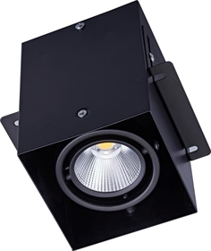 cob格栅灯 led明暗两用天花射灯 方通led灯