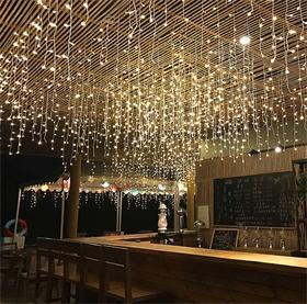 LED商场闪亮满天星窗帘灯冰条灯灯串