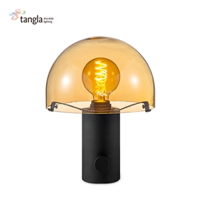 砂黑色的蘑菇台灯