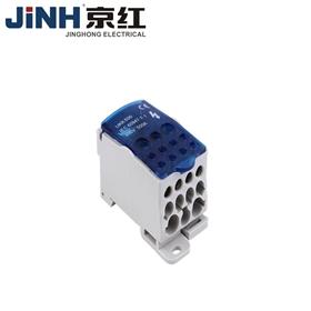 UKK-500单级分线盒黄铜镀镍电缆连接可靠导轨端子