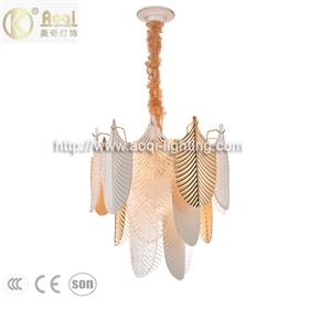 轻奢玻璃陶瓷吊灯金色客厅灯3层12头餐厅卧室床头玄关衣帽间灯