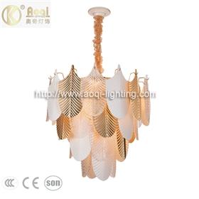 轻奢玻璃陶瓷吊灯金色客厅灯4层19头餐厅卧室床头玄关衣帽间灯
