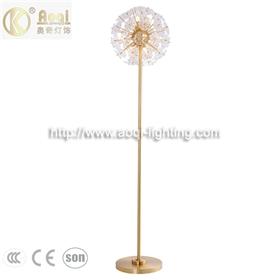 工程样板间台灯花朵花瓣玻璃灯 卧室房间样板房工程床头落地灯