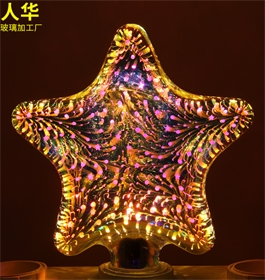 Led彩色灯泡 3D玻璃装饰灯