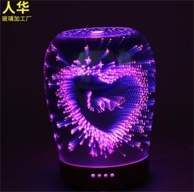 LED 3D爱心图案加湿器灯