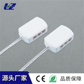 双色灯LED橱柜灯六位并联分线盒一拖六接线盒双色灯极简橱柜灯