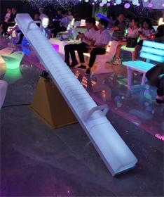 发光跷c跷板4米led户外美陈游乐灯饰互动七彩跷跷板