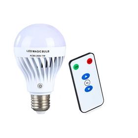 手持充电遥控应急球泡灯 停电自动亮灯 节能LED灯泡