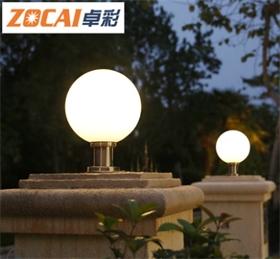 超亮户外小区柱头灯室外围墙圆灯罩墙头灯别墅庭院大门柱子球形灯