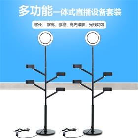 手机直播支架 补光灯美颜多机位直播支架 桌面多功能主播灯