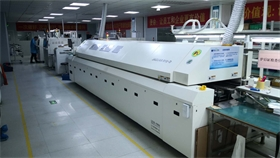散热器回流焊专业制造商-捷豹八温区回流焊,MES制造管理系统