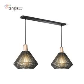 pendant lamp in black(jute)