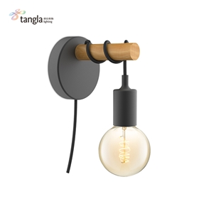 1L wall lamp (wood)