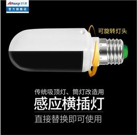 雷达感应LED横插灯 传统吸顶灯改造专用 人来灯亮人走灯灭