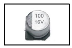 贴片型铝电解电容器 125 ℃ 1000Hrs, 高可靠性品