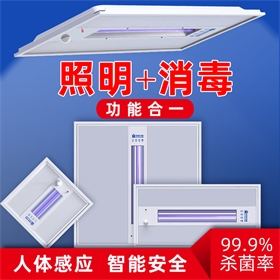 厨卫办公紫外线+臭氧遥控延时人体感应杀菌灭菌照明灯