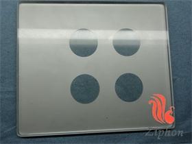 方形鋼化絲印玻璃