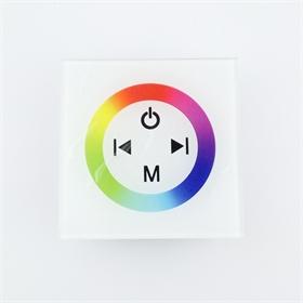 led触摸面板控制器 led灯条rgb七彩控制器触摸面板灯带