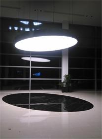 大型展厅LED软膜天花造型吊灯 商展用灯