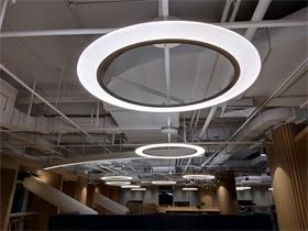 厂家订制环形亚克力吊灯按您所需订制 简约时尚大气亚克力吊灯