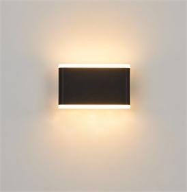 现代LED简约风格走廊别墅外墙卧室照明装饰PC充电宝户外壁灯