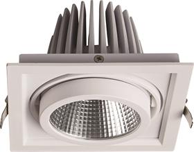 斗胆灯LED筒灯商用单头COB射灯嵌入式格栅灯