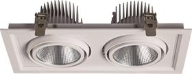 斗胆灯LED筒灯商用双头COB射灯嵌入式格栅灯