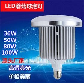 厂家批发LED高亮蘑菇球泡灯大工率厂房仓库照明灯
