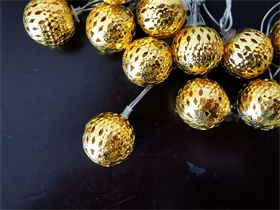 镂空圆球 LED灯串暖白 常亮款 4米长 室内装饰灯串