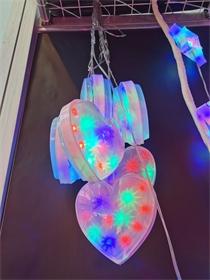 造型灯 吸塑灯 冰条灯串 爱心灯串 室内外装饰灯 定制