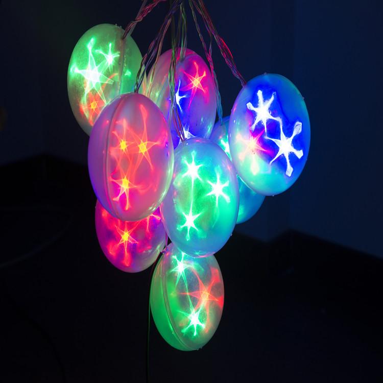 彩色星空灯球串 8球串四米长 室内装饰吊饰6cm 8cm