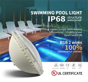 PAR56UL認證IP68結構防水塑料材質泳池燈