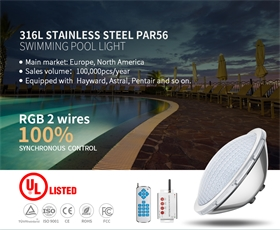25W316L不銹鋼材質結構防水UL認證水池燈