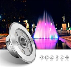 小功率6W正白316L不銹鋼商業廣場噴泉燈