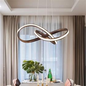 现代简约室内装饰圈客厅亚克力led吊灯