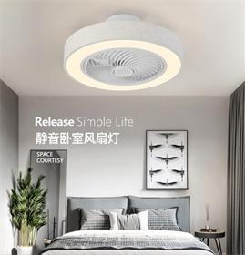 批发价现代ABS金属大空间白色遥控器LED吊扇灯