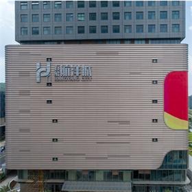 南宁航洋集团玻璃幕墙发光字工程
