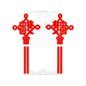 过年喜庆LED中国结广告灯箱户外防水景观路灯市政工程广告标志